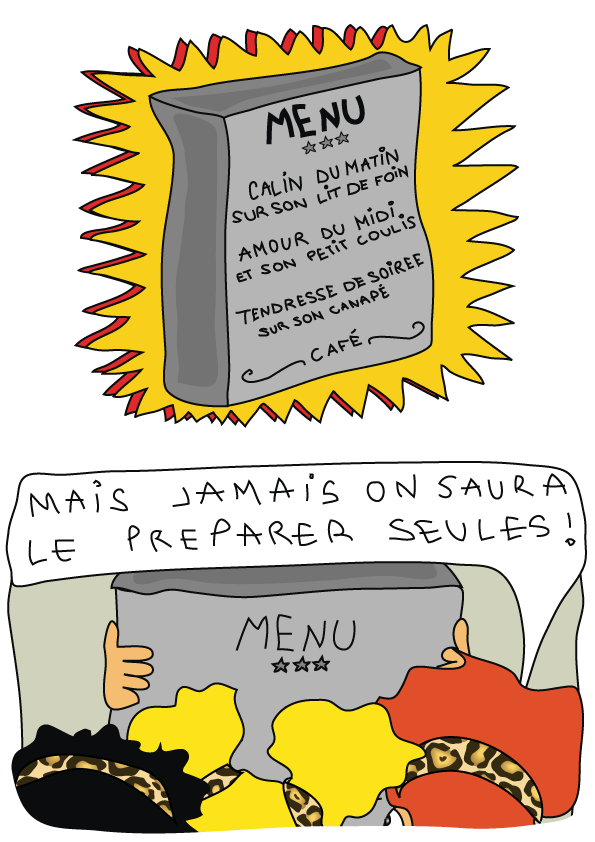 bande dessinée humour un diner de filles 5