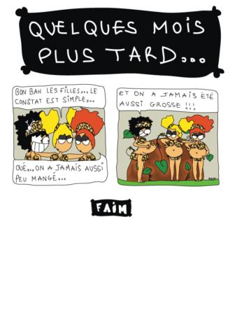 bande dessinée humour un diner de filles 7