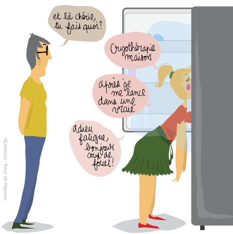 dessin humour cryotherapie maison