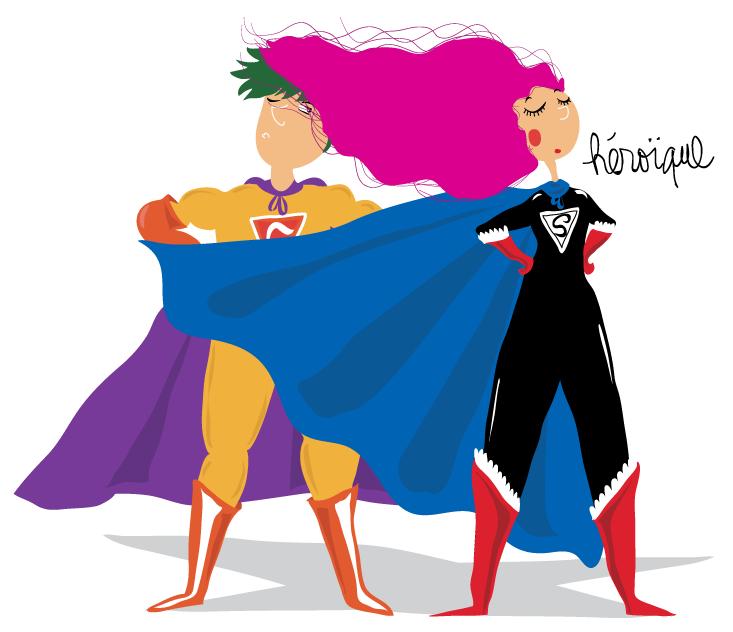 dessin pour ados super heros