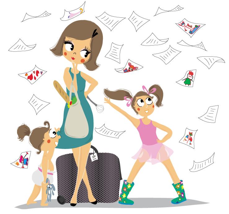 dessin pour enfant et maman