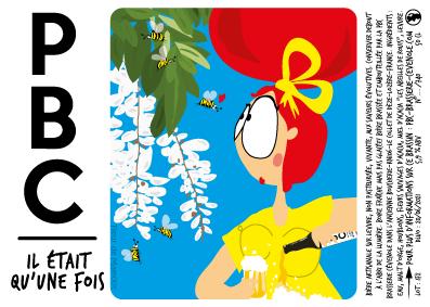 etiquette-biere PBC-miel-acacia dessin humour