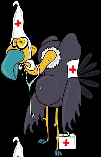 dessin d'un vautour humoristique