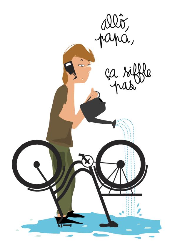 dessin-humour-ado-vélo-téléphone