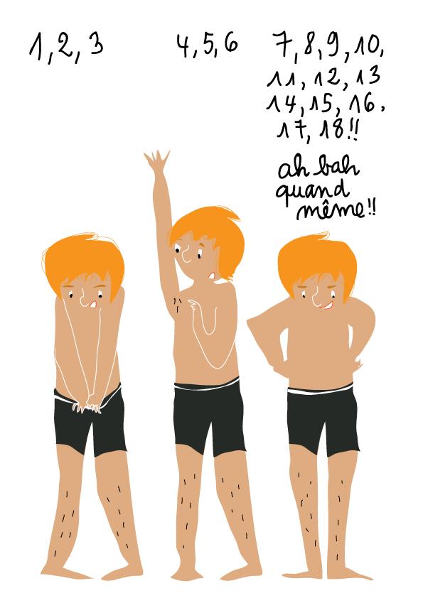 dessin humour ado pilosité poils