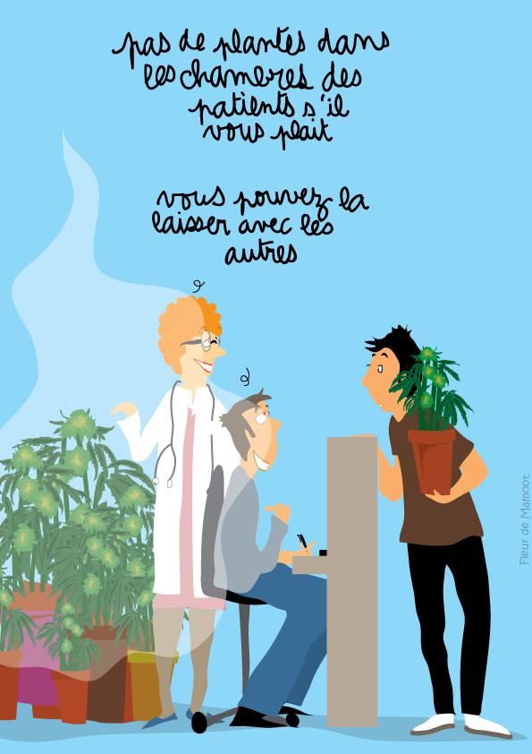 dessin humoristique sur le cannabis thérapeutique