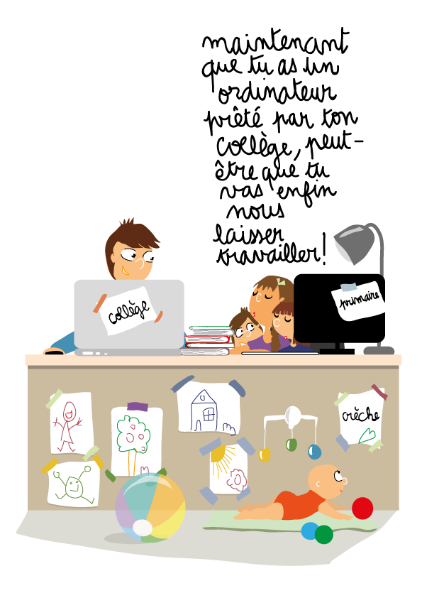 dessin-ado-fratrie-bureau-ordinateur