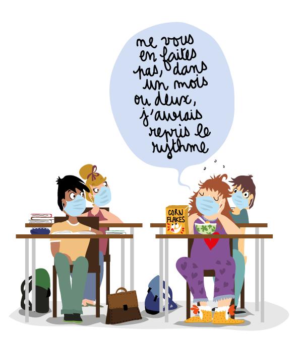 dessin-humour-rentree-scolaire-ado-avec-masques-1