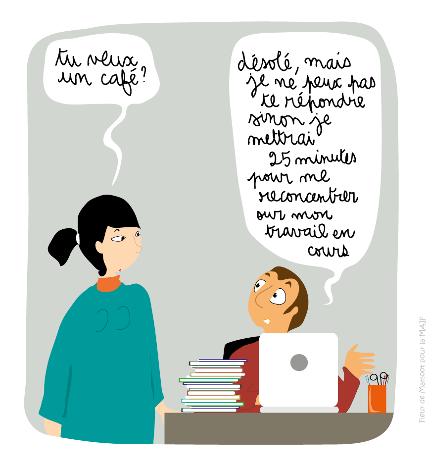 dessin-humour-rester-concentré-au-travail
